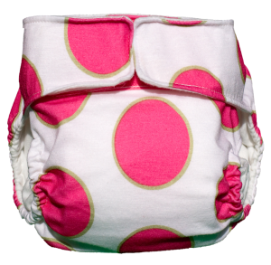CuteyBaby Modern Cloth Diaper in Pink Dot