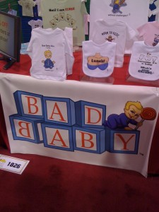 Bad Baby's Novelty Tees in the First Time Exhibitors Section