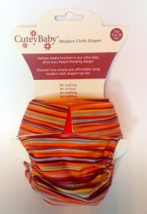 CuteyBaby All-in-One Cloth Diaper