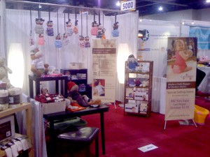 CuteyBaby booth in Las Vegas 2010 ABC Kids Show