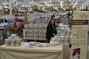 Our booth at Costco